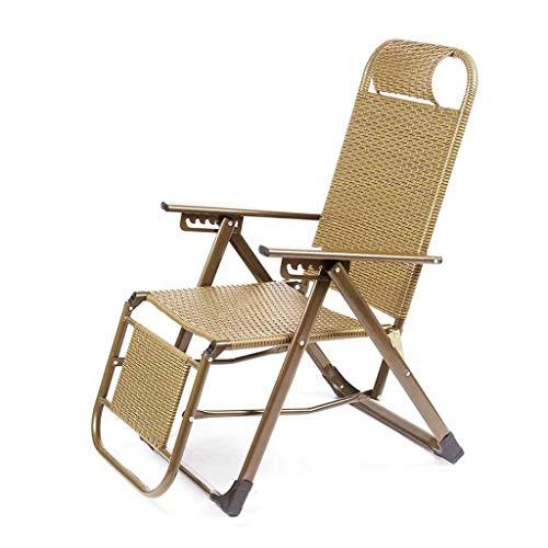 YLCJ opvouwbare ligstoel Poly rotan opvouwbare ligstoel Relaxer stoelen Lounge stoelen Tuinstoelen Strandstoel Geel Nappen Geel