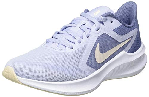 NIKE Downshifter 10, Running Shoe Mujer, Ghost/Guava Ice-World Indigo, 38 EU