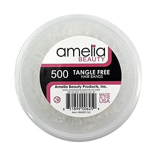 500 Count TANGLE FREE Elastic Pony Tail Holders (Clear)