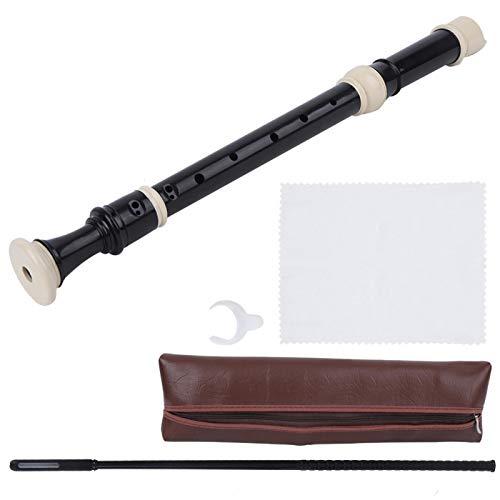 Flauta dulce, flauta dulce, enseñanza de música estable de resina ABS de excelente efecto para niños(Alto F British B (Baroque))