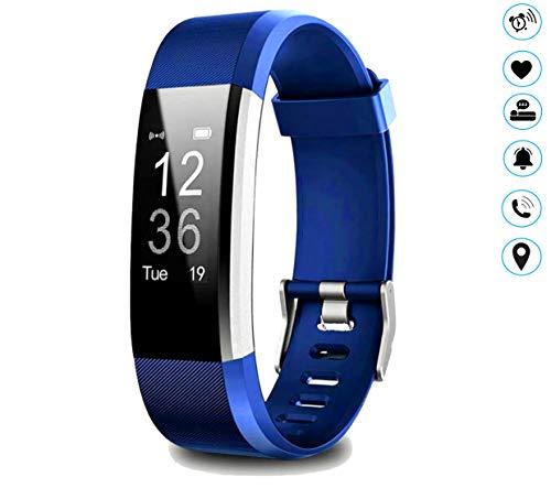 MuscleLocker Fitness Tracker, Monitor de actividad cardíaca, impermeable, pulsera inteligente con contador de pasos, contador de calorías, podómetro, llamada y SMS para mujeres, hombres y niños