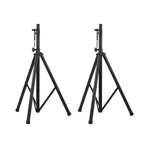 Amazon Basics - Verstellbarer Lautsprecherständer -120 cm bis 200 cm, Stahl 2er-Packung