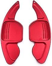 NO LOGO XJB-PULLERS, For Directivo de Audi A3 S3 A4 S4 S5 B8 A5 A6 A8 S6 R8 Q5 Q7 TT DSG Rueda de Coche del Cambio de Aluminio de extensión Shifters levas de Cambio 2pcs (Color : Rojo)
