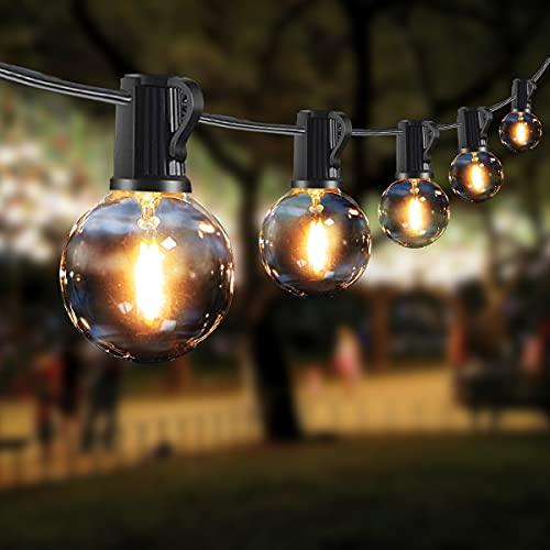 Lichterkette Außen,TOGAVE 9.5M Lichterkette Glühbirnen Außen Beleuchtung 25 Birnen mit 4 Ersatzbirnen IP44 Wasserdicht Sommerabend...