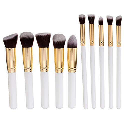 Delighted 10Pcs Makeup Brushes Kit Set Blush Face Foundation Powder Cosmetic Brush Professional - 02