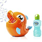 KreativeKraft Bubble Machine For Kids, Automatic Dolphin Bubble Maker, Indoor and Outdoor Bubbles For Babies And Toddlers Toys Bubble Mixture Included