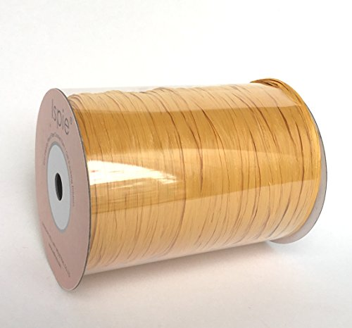 "Ispie Rayon Raffia Ribbon Crochet Yarn 1/4"" 100-Yard TURMERIC"