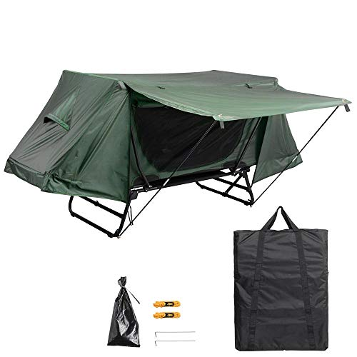 Yescom Single Tent Cot Folding Portable Waterproof Camping Hiking Bed Rain Fly Bag, Green