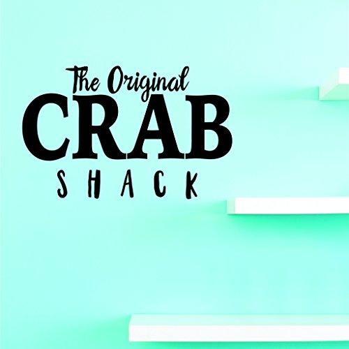 Motif Vinyle Avec 2 recharges de 2000 2 Hot nouveaux autocollants The Original Crab Shack Art mural Taille : 40,6 x 61 cm Couleur, 40,6 x 61 cm, Noir