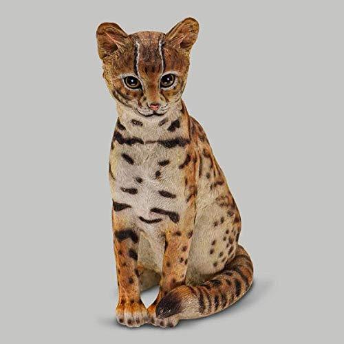 "16"" Asian Leopard Cat Sculpture"