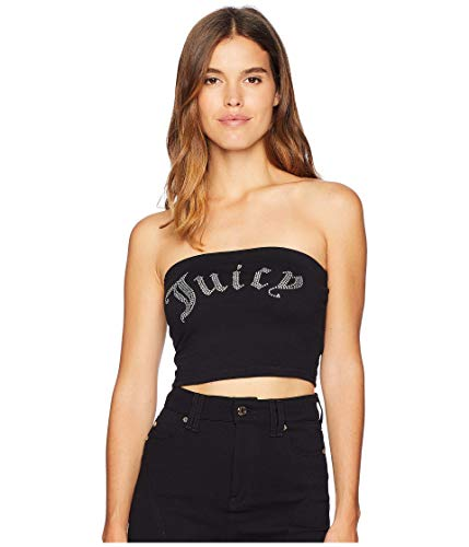 Juicy Couture Knit Juicy Shrunken Tee Pitch Black MD (US 6-8)