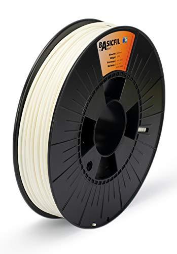 BASICFIL ABS 2.85mm, 500 gr filamento de impresión 3D, Blanco