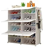 LDDLDG Sistema de Almacenamiento Caja de Almacenamiento portátil Zapatero Organizador de Zapatos con Puertas for los Zapatos, Botas, Zapatillas (Size : 85 * 31 * 96cm)