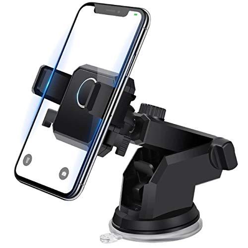 Handyhalter für Auto Handyhalterung - Lüftung Autohalterung Faltbar handyhalterung Smartphone Halterung für iPhone 6 11 Pro Max Xs/Galaxy S10/S20 /Huawei/Xiaomi usw 4.5 -6,5 Zoll Smartphone (Schwarz)
