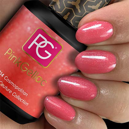 Color de pintauñas permanente Pink Gellac 214 Cosmopolitan. Esmalte de gel, calidad profesional y fácil aplicación en casa. Esmaltes de uñas.