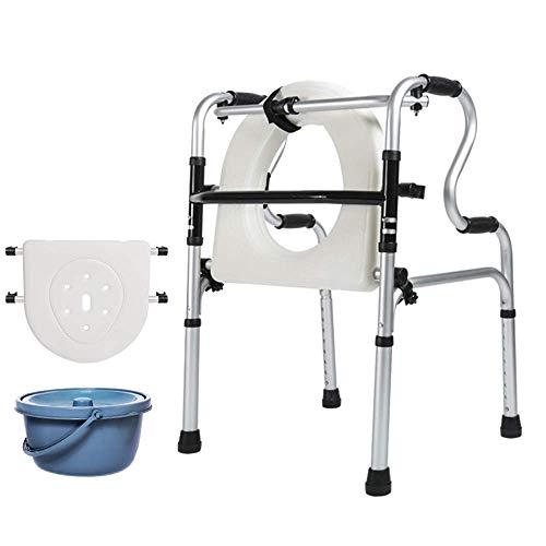 UWY Passeggino per Anziani Cintura per Cintura Piatto da Bagno + Walker per WC Cane Assistente a Quattro Zampe Pieghevole Leggero (Colore: Senza puleggia)