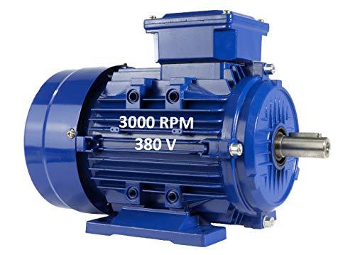 Elektromotor, dreiphasig, 4 kW, 5,5 PS, 220/380 V, 3000 U/min, B3, Größe 112 m, Achse 28 mm