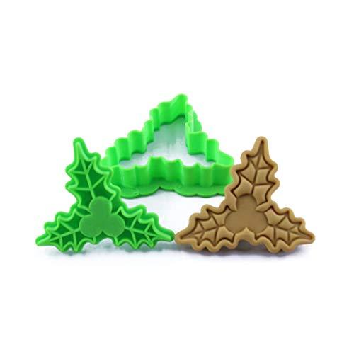 UYT Accessoires De Cuisson De Biscuit De Cuisine De Noël, Moule De Biscuit De Biscuit En Relief 3D De Forme De Père Noël