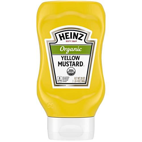 Heinz Organic Yellow Mustard (20 oz Bottles, Pack of 6)