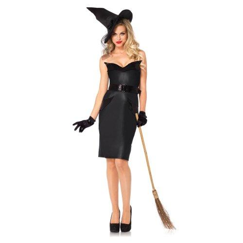 Leg Avenue - 8523901001 - Disguise per l'adulto - 85239 Modello - Strega Vintage Costume Set - Taglia S - Nero
