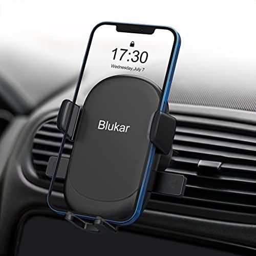 Blukar Porta Cellulare da Auto, Universale Supporto Cellulare Auto Supporto Auto Smartphone Bocchetta Dell Aria 360° di Rotazione e Operare con Una Sola Mano per iPhone, Galaxy, Xiaomi