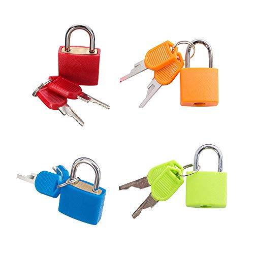 integrity.1 4 Piezas Candados para Equipaje,Candados de Metal de Viaje Plástico Pequeño...