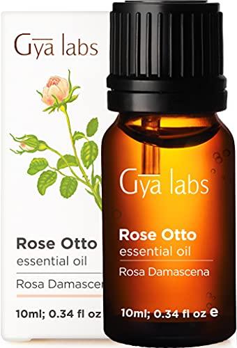 Rosa otto olio essenziale per la salute della pelle, Relaxtion e aromaterapia diffusore, 100% pure Therapeutic grade by Gya Labs (10ml)