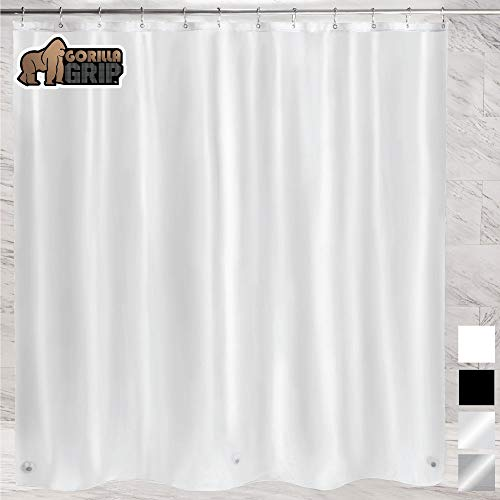 Ultimate Waterproof Fabric Shower Curtain or Liner Use for Bath Tub//Stall in Home and Hotel Black Breathable TPU /& Machine Washable 72x72