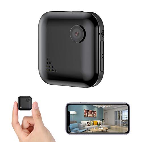 OUCAM 超小型カメラ WiFi 隠しカメラ スパイカメラ HD1080P高画質 150°視角撮影 遠隔監視 動体検知 赤外線暗視 警報通知 長時間録画/録音 犯罪防止 iOS/Android 日本語説明書 ブラック