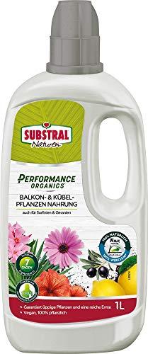 Substral Naturen Performance Organics Balkon- & Kübelpflanzen Nahrung, Bio Spezial-Flüssigdünger mit N-Max Formel, 1 L