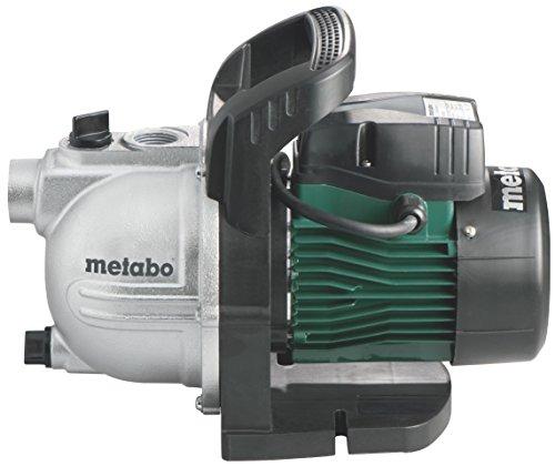 Metabo Gartenpumpe P 3300G (900 Watt, 4,5 bar, 24 Liter, Fördermenge 3300 Liter/Stunde, Wasserablassschraube, Start/Stop Automatik) 600963000