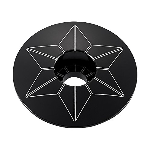 Supacaz Unisex Star Capz schwarz (eloxiert)