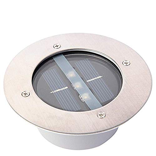 Yosoo Acero Inoxidable al Aire Libre a Prueba de Intemperie Energía Solar LED en Suelo Bombillas Luz de Lámpara Cubierta Enterrada Lámpara de Ladrillo Camino Decoración de Jardín