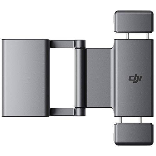 """DJI Pocket 2 Soporte para teléfono - Ofrece una conexión más Estable Cuando se Conecta a tu Smartphone, más Agujero roscado de 1/4"""" y un Deslizador frío para Mayor versatilidad de Uso, Negro"""