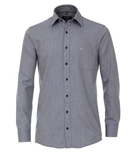 Casa Moda - Comfort Fit - Bügelleichtes Herren Hemd mit Muster (493312800A), Größe:XL, Farbe:Blau (100)