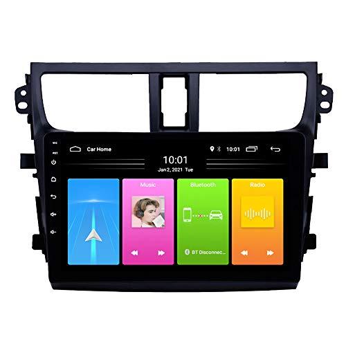 Kilcvt Android 10 HD Pantalla Táctil De 9 Pulgadas Navegación GPS para Automóvil, para Suzuki Celerio 2015-2018 Soporte Control del Volante/Llamadas Manos Libres Bluetooth,WiFi: 1 16g