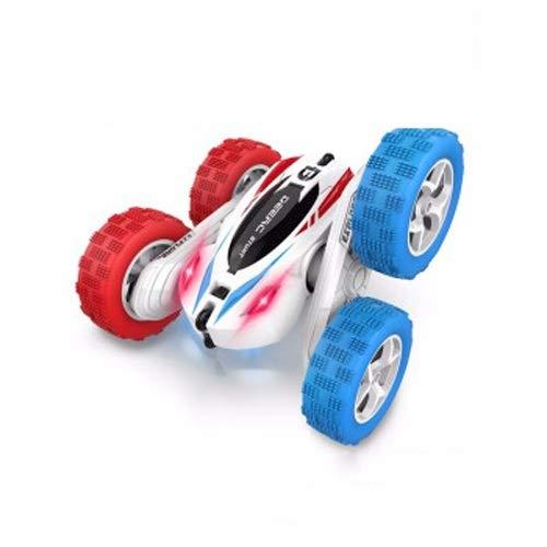 Lihgfw Stunt Buggy Fernbedienung Auto Müllwagen Kind Jungen Spielzeug Mädchen Spielzeug Geburtstagsgeschenk [Dual Battery 40 Minuten Batterieleben] Stunt Dump LKW-Weiß (Color : Weiß)