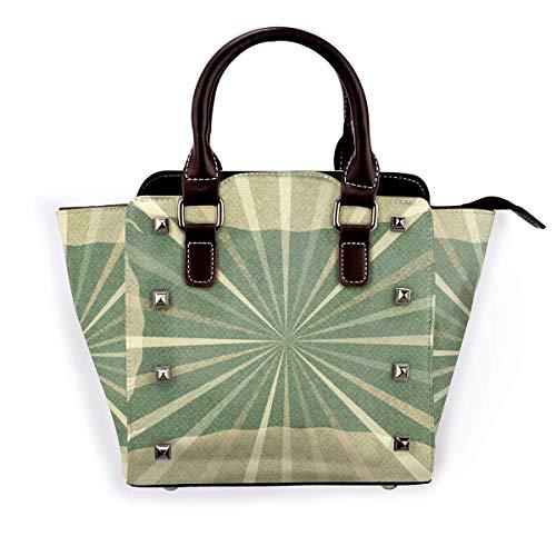 Indische Vintage Plaid Girl Handtaschen Geldbörsen Totes Leder Umhängetaschen Top Satchel Rivet Womens for Work Shopping
