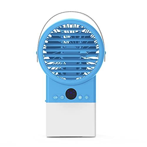 Condizionatore d'Aria Mobile, Condizionatore d'Aria, Umidificatore, Ventilatore, Luce Notturna a 7 Colori, Regolabile in 3 Direzioni, per Cucina, Camera da Letto, Soggiorno,Blue
