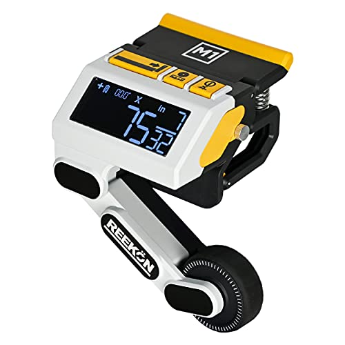 REEKON M1 Caliber Measuring Tool for Miter, Chop, and Band Saws – Eliminates Need to Measure & Mark Materials, Reduces Cut Time and Increases Safety, Measures Flat & Round Materials