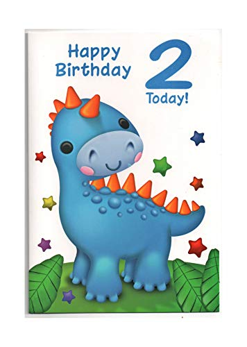 Biglietto Di Auguri Di Compleanno Per Due (2) Anni Bambino – Free 1St Class Post (UK)