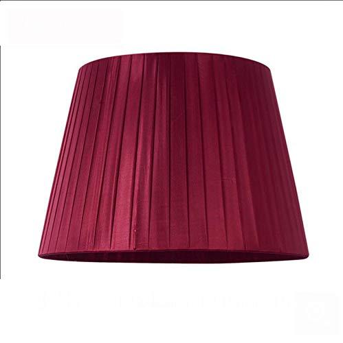 SZ JIAOJIAO Lámpara de Tambor cónico Redondo Shade - Tela de Efecto de Lino E27 Pantalla de Mesa - Mesa/Lámpara de pie,Red2,24cm