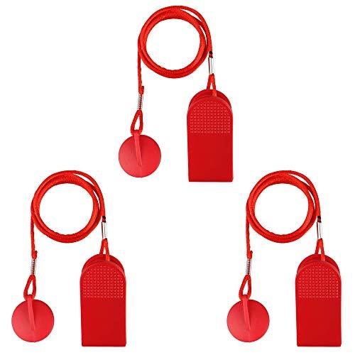 ALUYF 3 Stück Laufband Sicherheitsschlüssel Universelles Laufband Magnet Sicherheitsschloss für alle NordicTrack Proform Sole Weslo Weider Epic Freemotion und Healthrider Laufbänder
