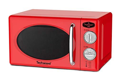 Techwood TMO-2035 - Horno de microondas (20 litros, potencia 700 W, bandeja giratoria 25,5 cm), color rojo