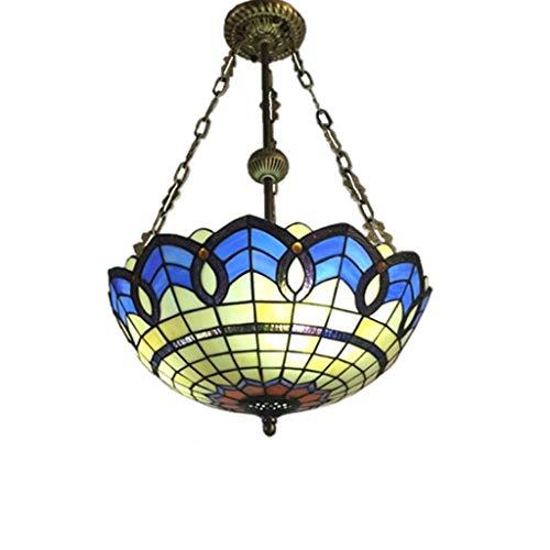 Style Tiffany 2 lumières inversé plafond lustre luminaire café bar décoration de la maison salon chambre lustre