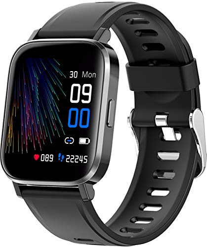 RUNDOING Smart Watch for Men Women,1.54' Fitness Tracker iP68 Waterproof Watch with Heart Rate Monitor, Calorie Counter,Pedometer Smartwatch Compatible for Android Phones iPhone
