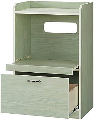 キッチン収納ミニ食器棚シリーズ レンジ台小(高さ90.5cm) 753307(サイズはありません ア:グリーンケイ)