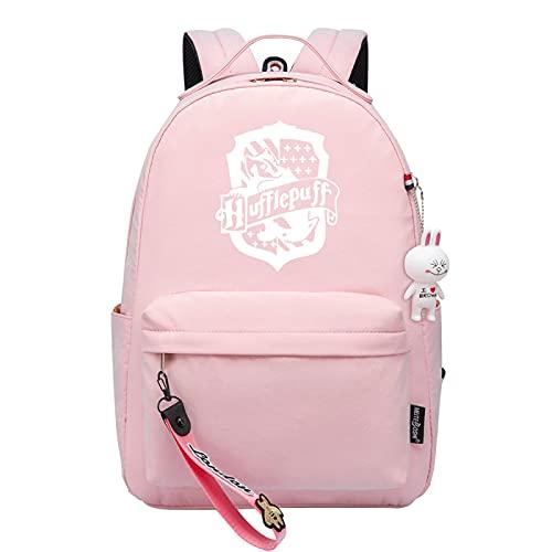 MMZ Mochila escolar para niños Mochila escolar con múltiples bolsillos Mochila escolar para niñas Mochila informal Gryffindor (Rosa)
