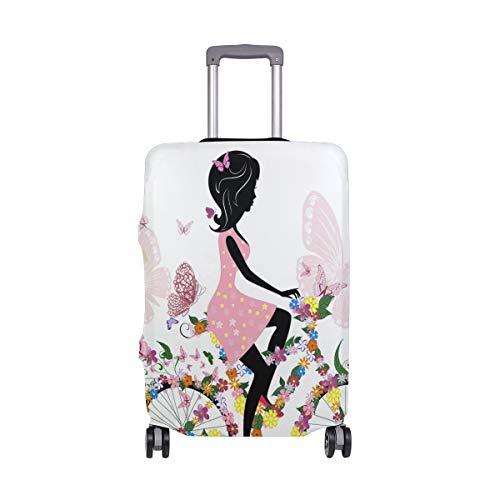 ALINLO Pink Fairy Girl Floral Bicicletas equipaje equipaje equipaje maleta viaje protector...