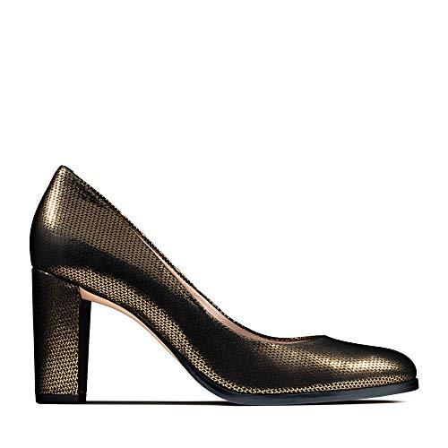 Clarks Damen Kaylin Cara Pumps, Silber (Bronze Metallic), 41 EU